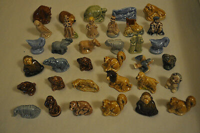 Lot of 35 Different Vintage Wade Whimsie England - Red Rose Tea Figurines