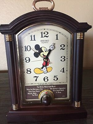 Vintage Disney Mickey Mouse Musical Alarm Clock with 6 melodies and a beep Seiko