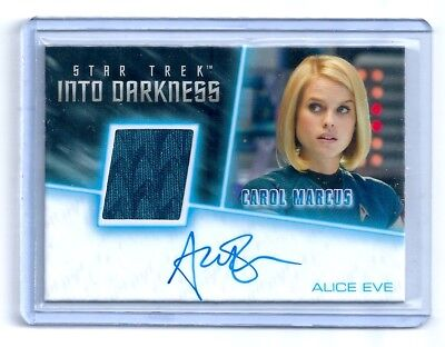 Star Trek Into Darkness Alice Eve As Carol Marcus Costume And Autograph