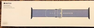 Apple Watch Woven Nylon Band 38mm Navy / Tahoe Blue New In Box Watchband
