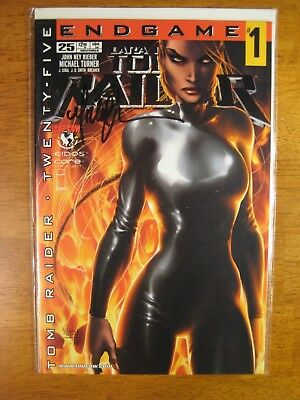 TOMB RAIDER 25/ENDGAME #1 **SIGNED BY BRIAN MICHAEL TURNER** w/COA