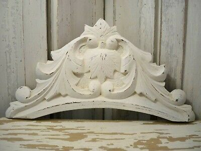 VINTAGE Architectural WOOD Arch CROWN Shabby FARMHOUSE Chic Salvage Fragment