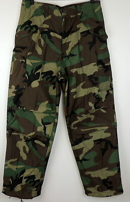 Mens Cold Weather WOODLAND Camo Army Pants Cargo Adjustable Med-Long NEW Hunting