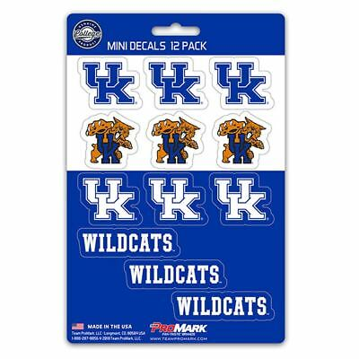 Kentucky Wildcats Stickers Die Cut Mini Decals 12-Pack Sticker Sheet