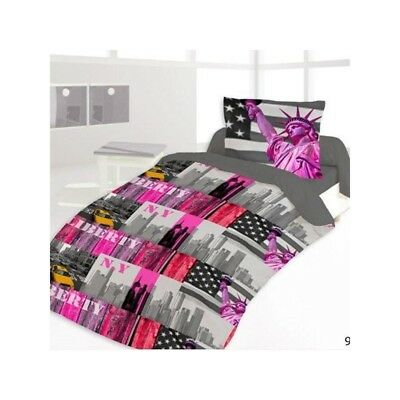 Housse de couette 140 x 200 +1 Taie NEW YORK LIBERTY