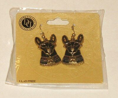 Egyptian Bastet Earrings Set. Bast Ankh Cat Egypt Symbol