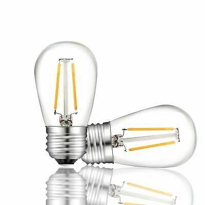 UL S14 E26 Edison Clear Bulbs Replacement Bulbs For Indoor Outdoor String Lights