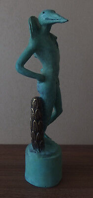 Perfect Very Rare Bronze sculpture, Birdman, signed, Salvador Dali with COA docs