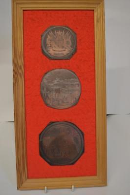 3 Framed Copper Printing Plates showing British Troops embarking for the East