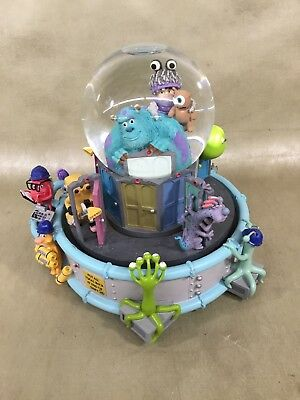 "2001 Disney Pixar Monsters Inc Musical Snow Globe Plays ""If I Didn't Have You"""