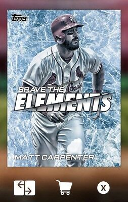 2018 BRAVE THE ELEMENTS OFFSEASON MATT CARPENTER Topps Bunt Digital Card