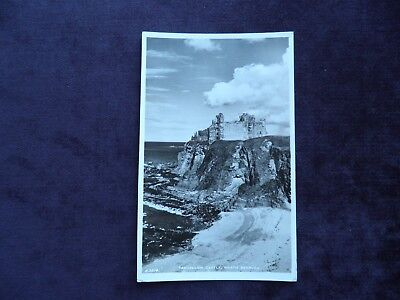Vintage Real Photograph Scottish Postcard of  Tantallon Castle, North Berwick