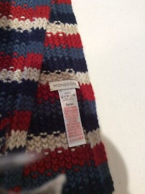 Monsoon boys striped scarf, 3 years plus