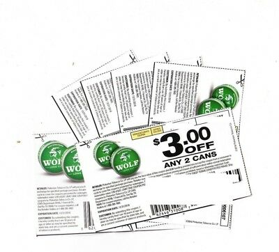 (6) Timberwolf Smokeless Tobacco Coupons Save $18! Skoal Grizzly Copenhagen