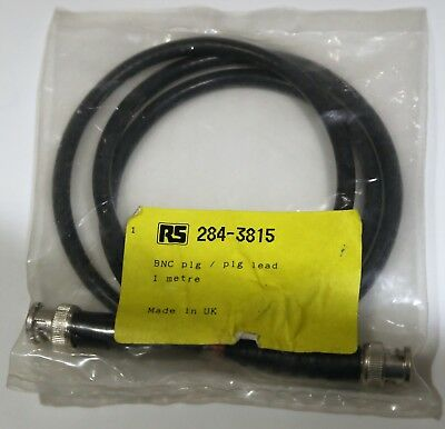 RS PRO 75 ohm Coaxial Cable Assembly, 1m, black BNC to BNC RS 284-3815