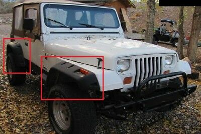 Jeep Wrangler Yj 1987 - 1995 Wheel Arch - Fender Flares Extensions 6 Pcs
