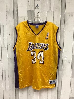 RARE VINTAGE CHAMPION Los Angeles Lakers Shaquille O Neal 44 jersey ... 877ea5867