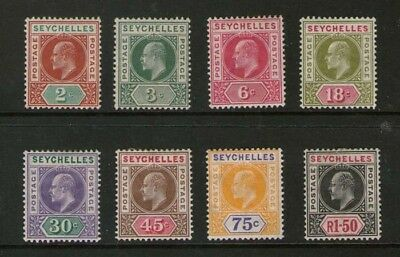 Seychelles 19063 KEVII selected SG 46-56 ( 46-48,51-55) MH