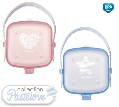 Baby Soother Travel Box Pod Holder Great Container pink blue Canpol