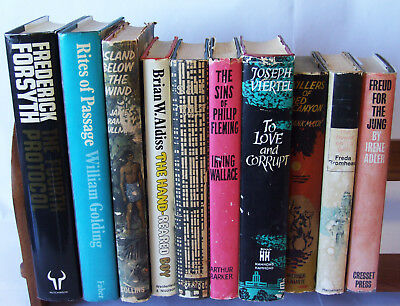 Bundle of Vintage First Edition Books With Original Dust Jackets. Old Joblot