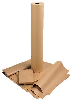 """2 Sheets of 1.4m (55"""") x 0.955m (37.5"""") Imperfect Thick Brown Packing Paper UK"""