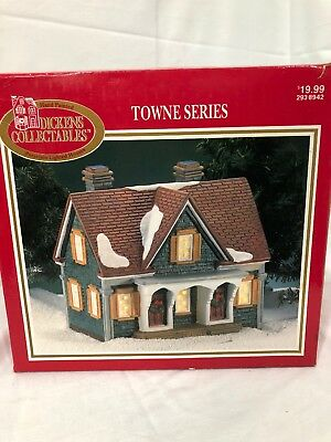 Vintage 1995 Dickens Collectables Towne Series Christmas Village House With Box