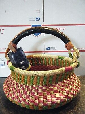 Handmade Blessing Basket Ghana By Abayeta Collectible Christmas Gift