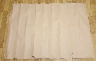 """2 Sheets of 1400mm (55"""") x 955mm (37.5"""") Imperfect Thick Brown Packing Paper UK"""