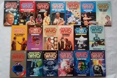 Doctor Who: Target Paperback 19 Book Lot Bundle: Complete Fifth Doctor Run