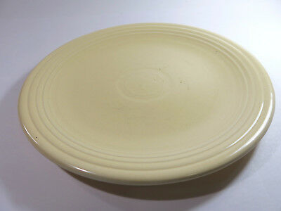 """Antique Old Ivory 12"""" Round Fiesta Chop Plate by Homer Laughlin — 1936-1951"""