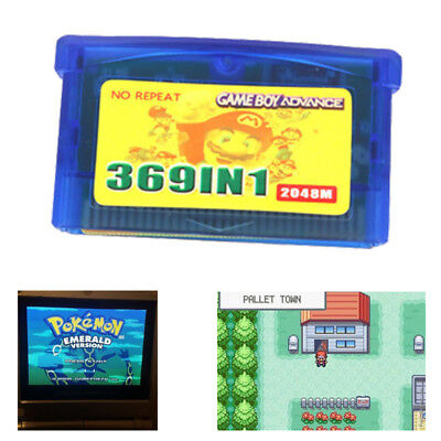 369 in1 GBA Pokemon Games for Nintendo GBA SP NDS GameBoy Multicart Cartridge US
