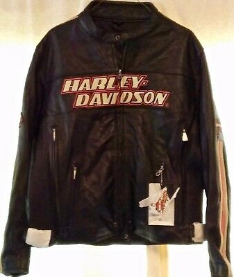 Mens Harley Davidson Leather Jacket - Large- New With Tags