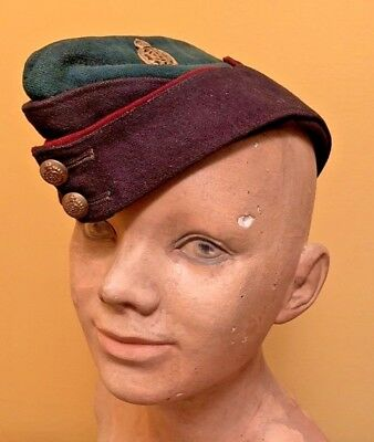 RARE Authentic WW2 British Army Dental Corps Side Cap/ Wedge Cap