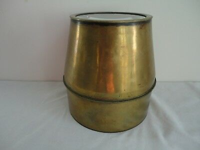 Large Early Antique Brass Conical Shaped Photo Lens Photography Camera Vintage