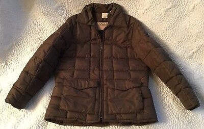 WALLS Vintage Blizzard Pruf Insulated Puffer Trucker COAT JACKET Brown Med Mint