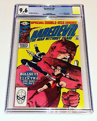 Daredevil 181 CGC 9.6 NM+ Marvel 1982 White Pg Death of Elektra Frank Miller
