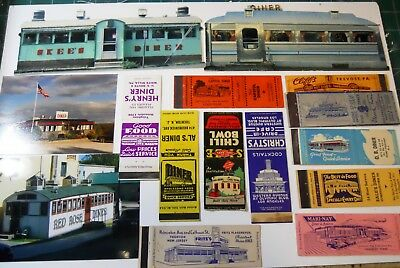 Collection Of Diner & Drive In Match Covers Orig Photos Cards Calendar