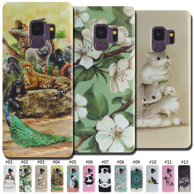 For Samsung Gel Cute Case Cover Soft Protective Skin TPU Painted Silicone Back