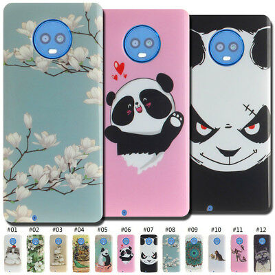 Painted Cover Cute Fashion TPU Rubber Back Case Soft Gel Shell Skin For Motorola