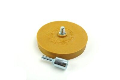 "4"" Caramel Wheel Pinstripe Eraser with Arbour"