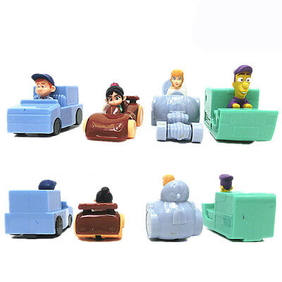 Wreck-It Ralph 4 PCS Pull Back Car Action Figure Cake Topper Kids Gift Doll Toys