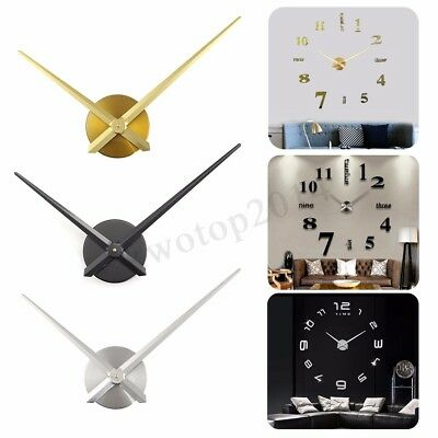 DIY Large Quartz Wall Clock Movement Mechanism Parts Repair Time hands Tool