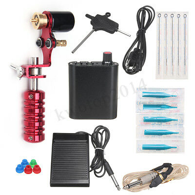 Beginner Complete Tattoo Kit Inkstar Machine Rotary Set Gun Power Supply