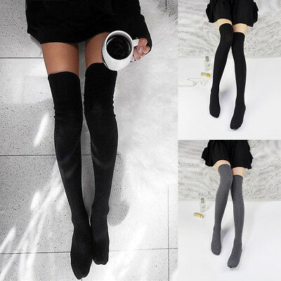 bd6859ac95a Women Over Knee Wool Knit Long Socks Winter Thigh-Highs Warm Socks Stocking  UK