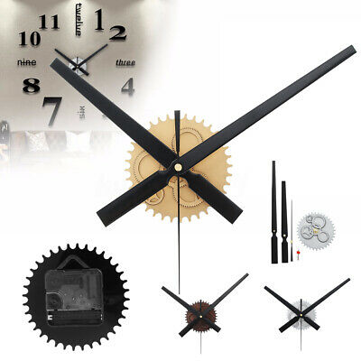 Large Wall Clock Quartz Movement Mechanism Repair Set DIY Hands Kit Parts