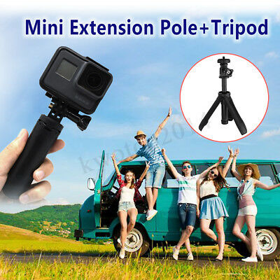 Mini Camera Extension Pole + Tripod Plastic Adjustable Selfie Stick For
