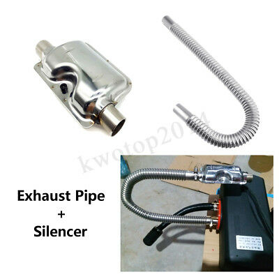 60cm Stainless Steel Exhaust Pipe+Silencer For Air Diesel Car Parking Heater