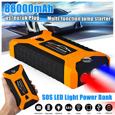 89800mAh Car Jump Starter 4 USB LED Emergency Battery Booster Power Bank 12V