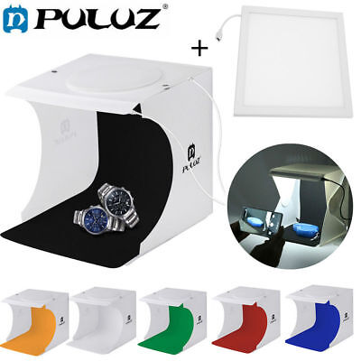 PULUZ 2*550LM Mini Photo Studio Light Box Backdrop LED Lightroom Light SG