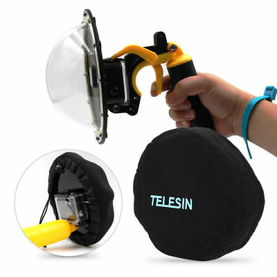 TELESIN Dome Port Protect Cover Hood Bag for GoPro 4 5 Sjcam Action Camera  SG